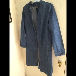 Denim duster in perfect condition